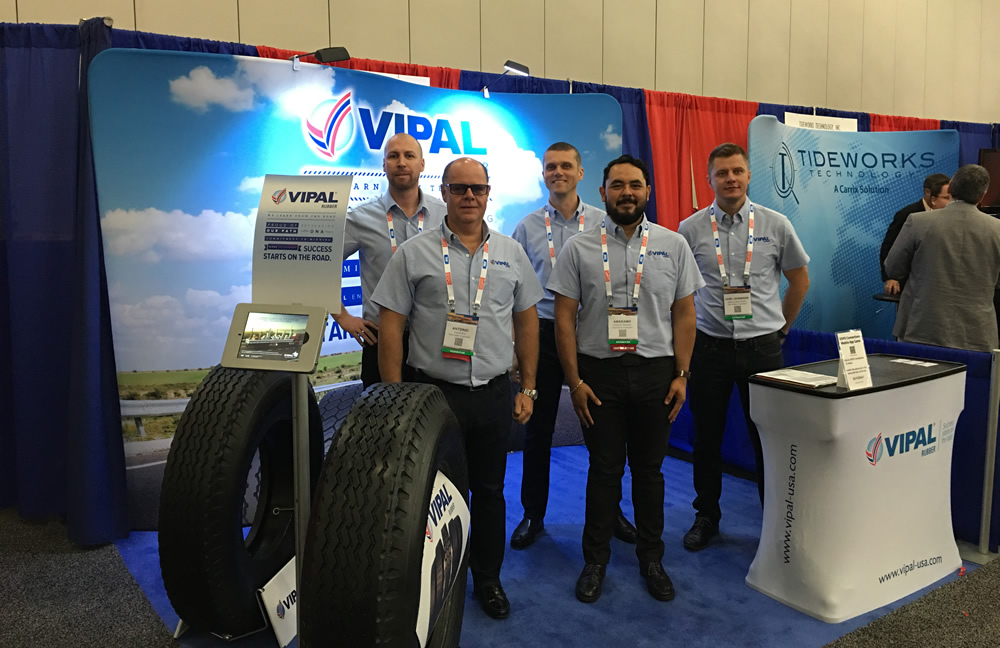 Vipal Rubber present tire retreading products at IANA Expo 2018